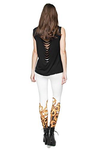Leggings für Damen/Mädchen, mit 3D-Grafik, elastisch Precels
