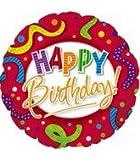Bargain Balloons Palloncino Tondo Happy Birthday con Coriandoli Colorati, Multicolore, 45 cm 114601