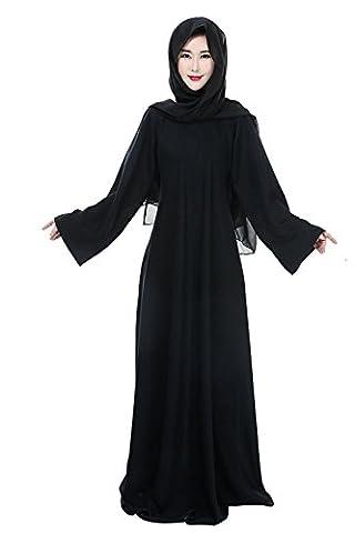 Frauen Schwarz Muslimischen islamischen Abaya Kleid Jalabiya Kaftan Kaftan für