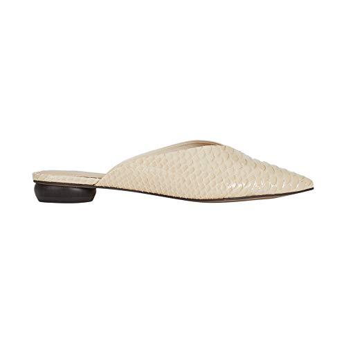 Parfois - Zapatos Tacón Bajo Mule Beige Croco - Mujeres