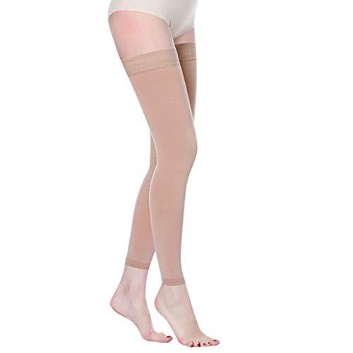 AMINSHAP Stretch-Socken Langbein-Kompression Medizinische Behandlung intravenöser Krampfadern Postoperative Thrombusbelüftung Sekundärsocken,ninepointsskincolor,M -