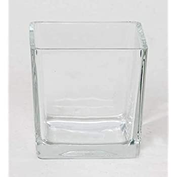Transparent INNA Glas Pot de Fleurs KUNO 18x18x18cm Verre à Bougie//Photophore carré Cube//carré