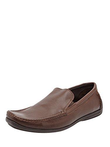 Clarks Men Copper Leather Shoes