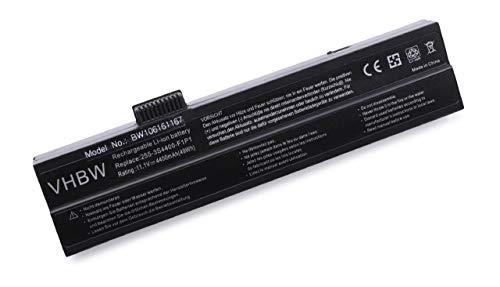 vhbw Li-ION Batterie 4400mAh (11.1V) Noir pour Laptop Notebook Fujitsu-Siemens Amilo M7425, Pi1536, Pi1536DC, Pi1556, Pi1557, Pro V2020