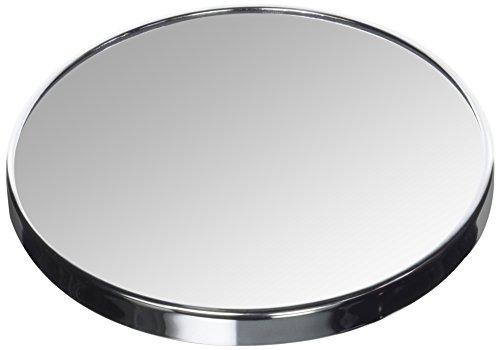 homeXpert MSV 141402Kosmetikspiegel mit Saugnapf Metall Silber 17x 17x 3cm