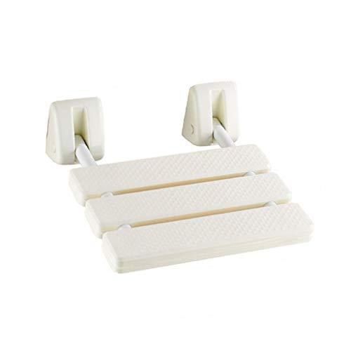 JPVGIA Badewannenhocker Hocker mit abnehmbarem Blatt zur Wandmontage, Faltbarer Duschsitzstuhl, Faltbarer Badesitz for ältere Menschen, Schwangere und Behinderte, die EIN Bad nehmen möchten -