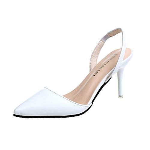 Scarpe sandali donna con tacco bassi zeppa eleganti estivi scarpe tacco sottile a punta tinta unita color nudo