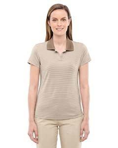 Ladies' climalite� Classic Stripe Short-Sleeve Polo SHORE/ ECRU S (Climalite Golf)