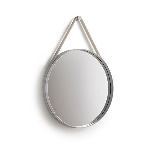 HAY Strap Mirror Spiegel, grau Ø 50cm