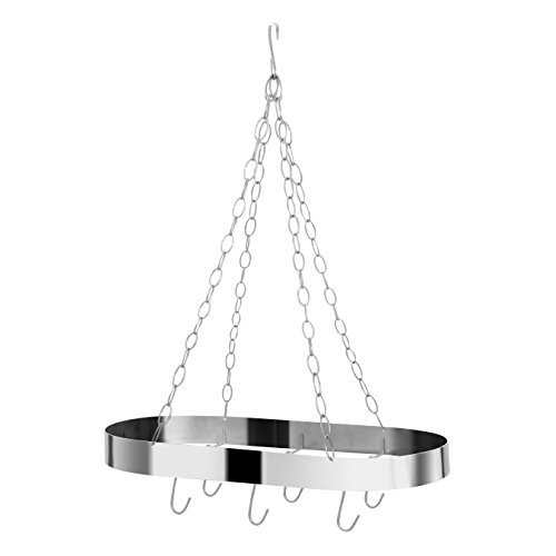 Premier Housewares Oval Ceiling Rack, Matt Chrome