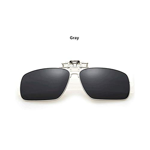 FGRYGF-eyewear2 Sport-Sonnenbrillen, Vintage Sonnenbrillen, Männer Full Frame Polarized Clip On Sunglasses Männer's WoMänner's UV400 Myopia Filp On Sun Glasses Driving Night Vision Lens Gray