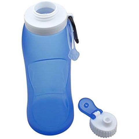 Increíble, creativa botella de silicona plegables Deportes (Azul)