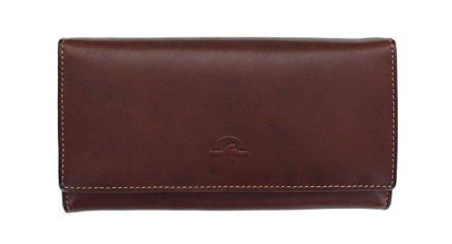 Tony Perotti Geldbörse Geldtasche, groß, vollnarbiges Leder, mit Rahmen und RFID-Schutz 1010_1 Braun