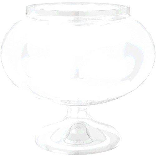 amscan 15.8 cm Courte Rond Plastique Bocal Clair,