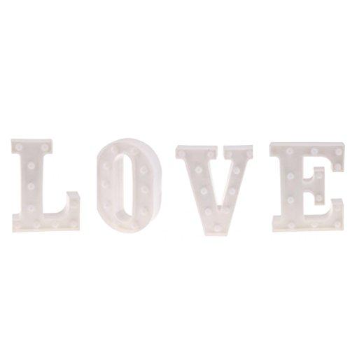 Baoblaze 4X Alphabet Buchstaben LED-Licht,Love Form