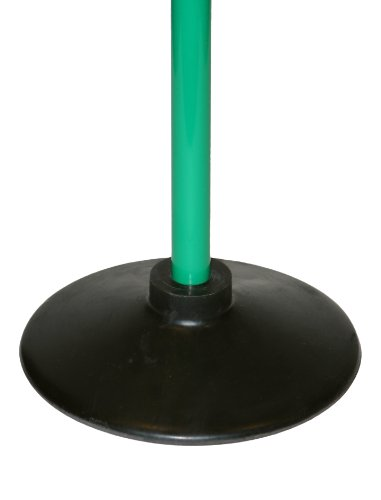 Slalomstange mit Vollgummi-Standfuß, Stange 120 cm - Farbe: grün