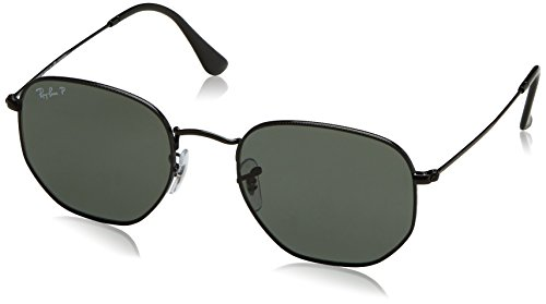 RAYBAN JUNIOR Herren Sonnenbrille Hexagonal, Black/Polargreen, 54