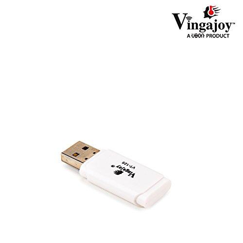 Vingajoy™ White Wireless Bluetooth Plug and Play Dongle USB 3.0- VT-125