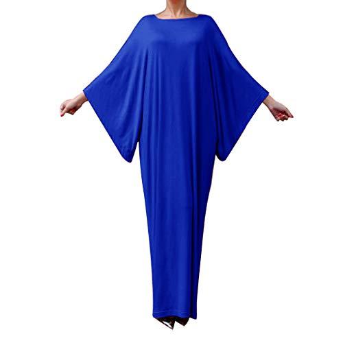 Saudi Mädchen Kostüm Arabien - WoWer Muslimische Gebet Fledermaus ÄRmel isches KostüM Arabische Robe Einfarbig Ethnische Kleid Einfache Einfache DüNne Langarm Kleid