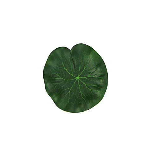 0Miaxudh Künstliche Lotusblatt, 2 Stück künstliche schwimmende Lotusblätter gefälschte Grünpflanze, Gartenteich Pool Dekor