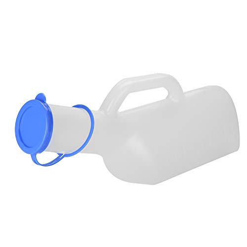 Urinflasche, tragbare wiederverwendbare männliche Urinallinse mit hoher Kapazität, Urinbehälterflasche für Männer, Kinder, Mobilität älterer Menschen, nach der Operation, 1000ml