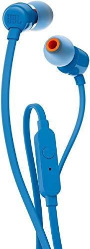 Renewed  JBL T110 in Ear Headphones  Blue