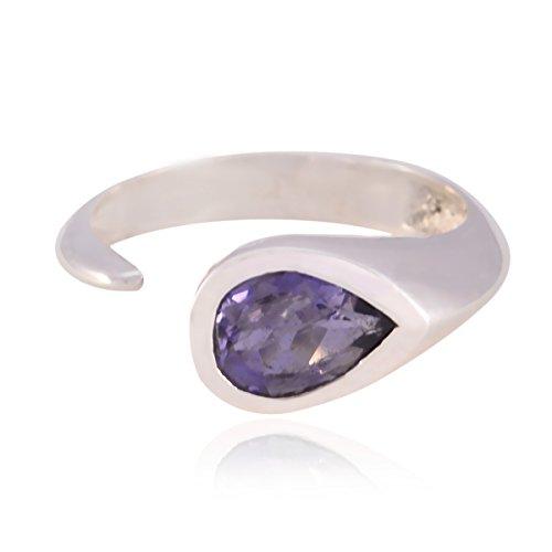 RGPL Unisex Herren Damen - 925 Sterling-Silber Sterling-Silber 925 Tropfenschliff Améthyste (Den Halloween-artikel Für Verkauf)