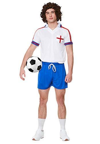 Karnival 822271980Fußball Player Kit Kostüm, Herren, Multi, - Herr Groß Kostüm