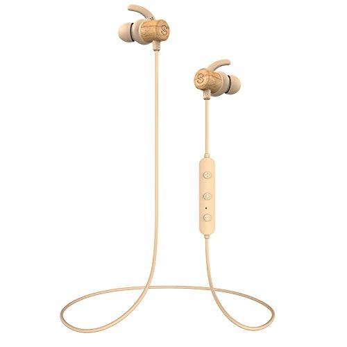 SoundPEATS Auriculares Bluetooth 4.1 Magnéticos In-ear Cascos Deportivos Inalámbricos con Mic, Resistente al Agua IPX6, Max Duración 8 Horas para iPad, iOS Android Móviles Smartphones PC (Caqui)