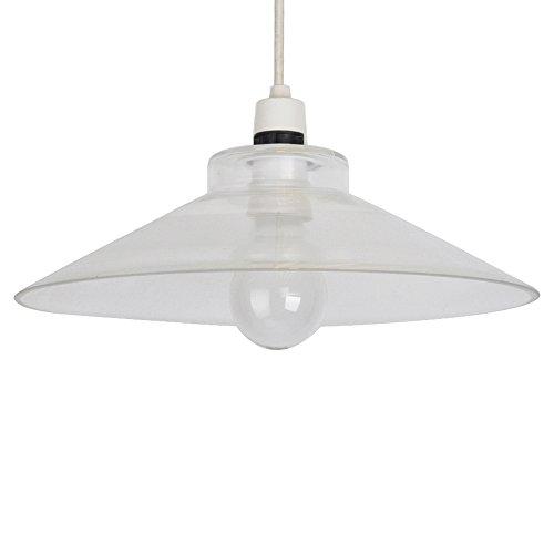 Retro Classic Style Clear Glass Non Electric Ceiling Light Pendant L& Shade  sc 1 st  Amazon UK & Non Electric Pendant Shade: Amazon.co.uk azcodes.com