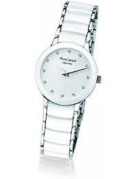 Pierre Lannier - 008D990 - Montre Femme - Quartz Analogique - Cadran Blanc - Bracelet Acier et Cramique Blanc