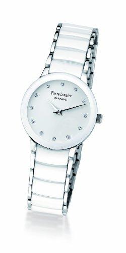 Pierre Lannier 008D990 - Reloj analógico de cuarzo para mujer, correa de cerámica color blanco