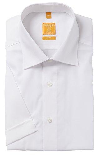 Redmond Hemd Body Cut Halbarm weiß Kent Weiß