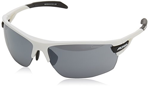 Alpina Unisex Sportbrille Tri-Scray, white-black, A8479310