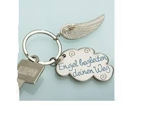 Preisvergleich Produktbild Schlüsselanhänger,Schutzengel Flügel und Wolke (Engel begleiten deinen Weg)