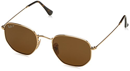 Ray-Ban Herren Sonnenbrille 3548N, Gold (Braun Klassisch), - Sonnenbrille Ray Ban Herren Gold