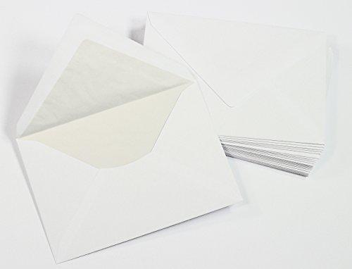 C6 Umschläge mit Innenfutter / Seidenfutter (100 Stück)