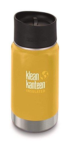 Klean Kanteen Vakuumisolierte breite 355 ml mit Cafe Cape 2.0 Flasche S Lemon Curry
