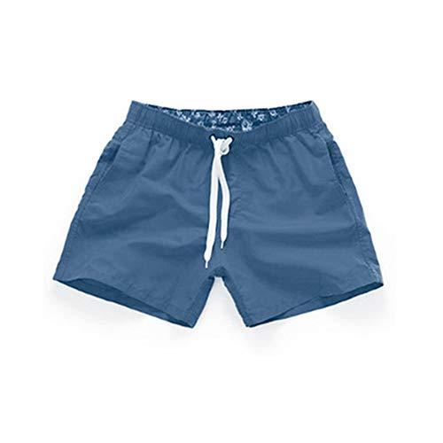 r Mädchen Strandhose Herren Shorts Sommer einfarbig Dünnschliff Surfhose Navy XL ()