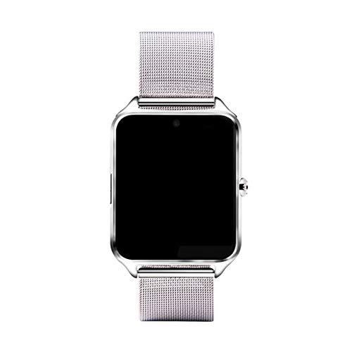 Smart Watch, Plus Metalluhr Mit SIM-kartensteckplatz Push-Nachricht Bluetooth-konnektivität Android Phone Smartwatch Mit Box 8 GB TF hinzufügen Silber