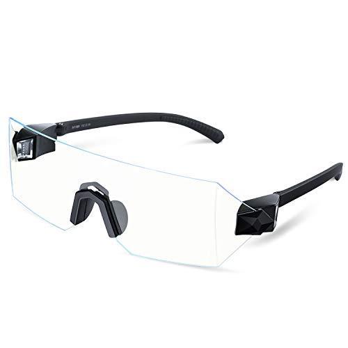 Blaulicht-Brille für Computer-Gaming-Brille für Männer und Frauen, blendfrei, entspiegelt, Anti-Müdigkeit, UV-Blocker, FDA-genehmigt