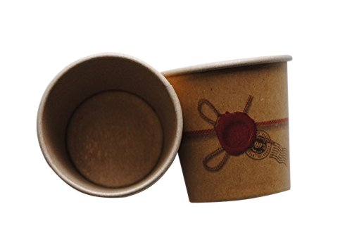 PZ 200 Gobelet cl 10 de Papier x chaud Kraft Havane pour caffe 'Paper Cup Coffee And Hot Drinks