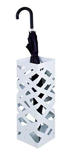 Haku-Möbel Schirmständer, 16 x 16 x H: 48 cm, weiß