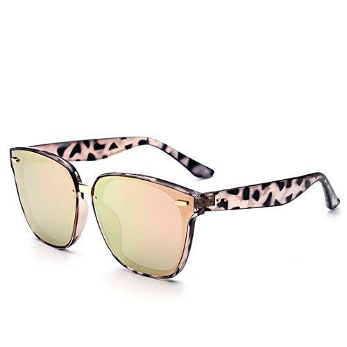 WULE-RYP Polarisierte Sonnenbrille mit UV-Schutz Hochwertige Niet Dekoration Farbige Linse Katzenaugen Sonnenbrille UV ProtectionFor Women. Superleichtes Rahmen-Fischen, das Golf fährt (Farbe : Gold)