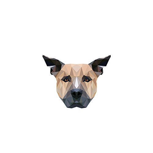 Elegant Staffordshire Bullterrier Clip with an Image of a Dog Geometric tie pin