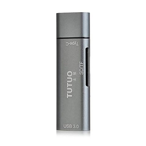 AVIDET 3-en-1 USB Type C adaptateur USB 3.1 to USB 3.0 Type A, lecteur de carte SD / Micro SD TF Card pour USB Type-C Devices inclus Lenovo Miix 320, Galaxy S8 / Plus, Huawei P10 / Plus / Lite
