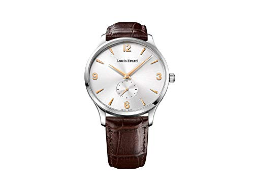 Louis Erard 1931 Automatic Watch, Silver, Brown Leather Strap, 47217AA11.BDC80