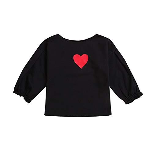 MRULIC Baby Valentinstag T-Shirt Herz Druck Oberseiten Pullover Kleidung Tops...