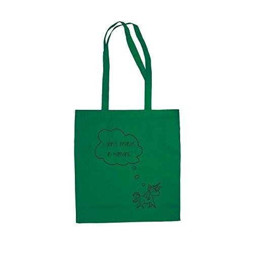 Baumwolltasche Jutebeutel Baby Einhorn Damentasche Einkaufstasche Stylisch Hipster Grün