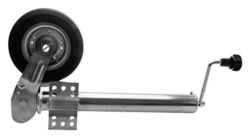 Hergestellt für Herkules Anhänger Stützrad Automatik 60 mm klappbar mit Stahlfelge Stützlast 400 kg Wohnwagen Stützrad Trailer Bugrad